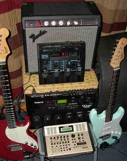 Stack-of-Guitar-Gear